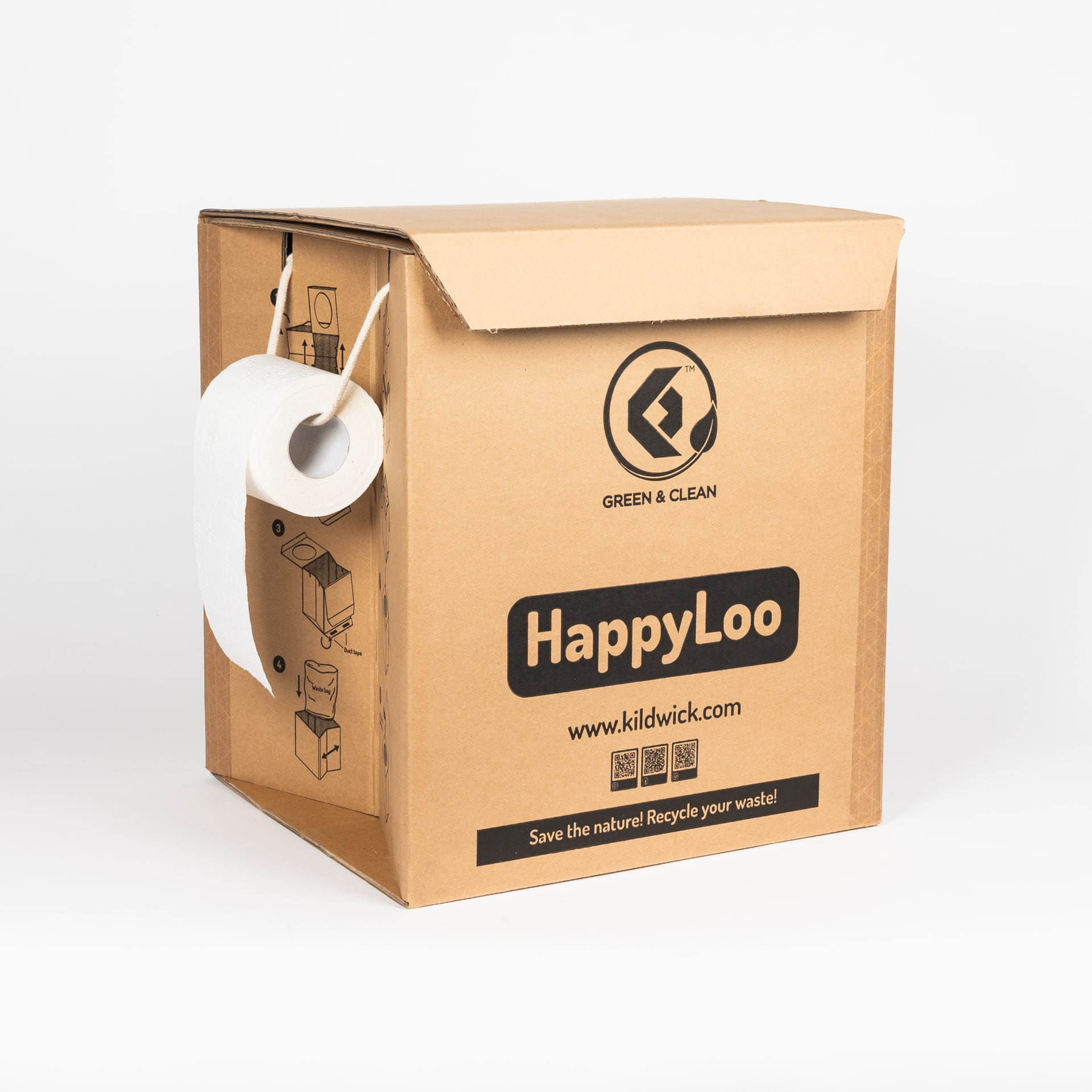 The Kildwick HappyLoo portable paper-toilet.